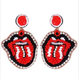 Crystal Tongue Out Earrings
